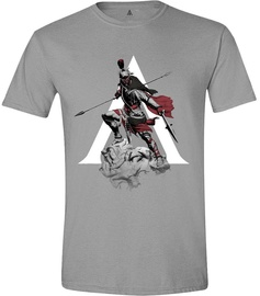 Licenced Assasins Creed Odyssey Character Charge Men T-Shirt Grey L