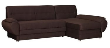 Угловой диван Bodzio Livonia Fabric Brown, 248 x 155 x 89 см
