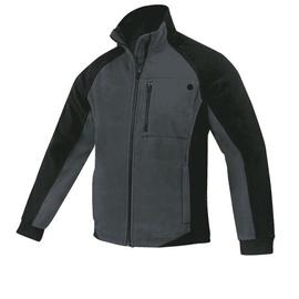 Fleece Work Jacket Black/Grey L