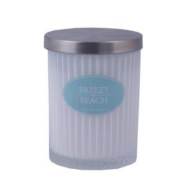 Ароматическая свеча Diana Candle Breezy Beach White, 7.5 x 9.5 см, 35 h