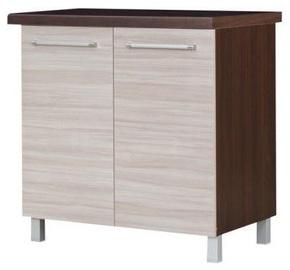 Нижний кухонный шкаф Bodzio Loara 80D Latte/Nut, 800x520x860 мм