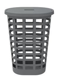 Plast Team Boston Oval Laundry Basket 54l Grey