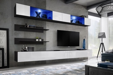 ASM Fly I Living Room Wall Unit Set LED White/Black