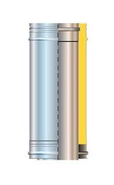 Cordivari Isolated Chimney Pipe D130 1m