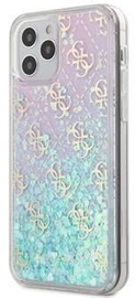 Guess 4G Liquid Glitter Back Case For Apple iPhone 12/12 Pro White