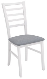 "Black Red White Marynarz ""Poziom2"" Chair White/Grey"