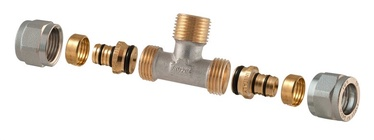 TDM Brass Demountable Threaded Tee 3/4''x20mm 1460E