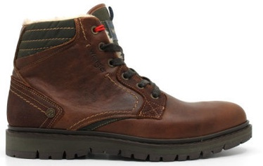 Wrangler Miwouk Fur Leather Winter Boots Cognac Brown 46