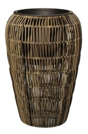 Home4you Flowerpot Wicker D26x38cm Brown