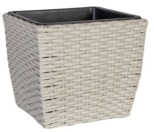 Home4you Flowerpot Wicker D21x21x18cm Grey