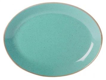 Porland Seasons Oval Plate 18.55x24.3cm Turquoise