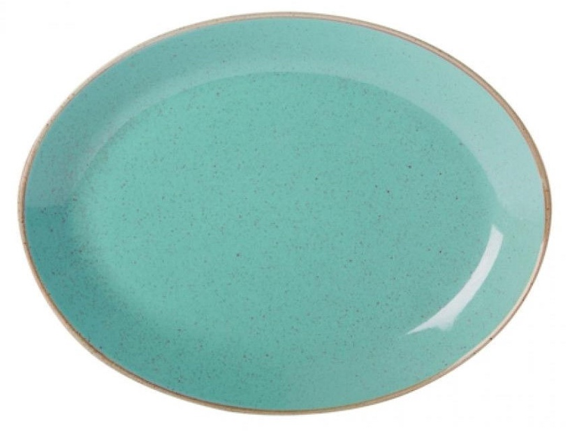 Porland Seasons Oval Plate 18.55x24.3cm Turquoise