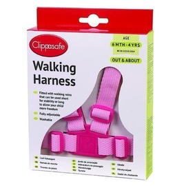 Clippasafe Walking Harness With Reins Pink 25350