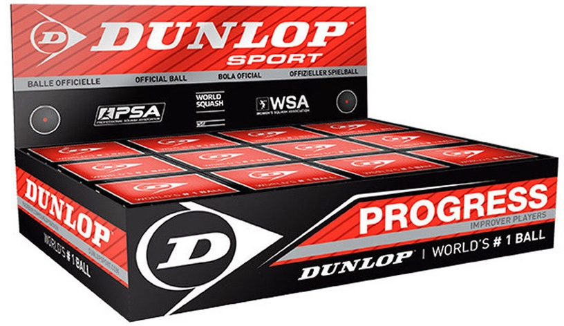 Dunlop 700077 Progress Squashball 12pcs