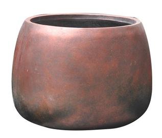 Home4you Flower Pot Round Cubo-3 D29xH20cm Bronze