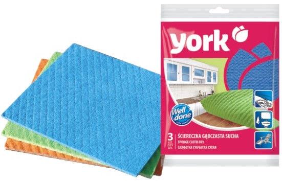 York Sponge Cloth Dry 3pcs