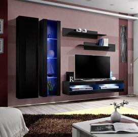 ASM Fly O9 Living Room Wall Unit Set Black