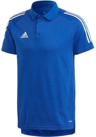 Adidas Mens Condivo 20 Polo Shirt ED9237 Blue L