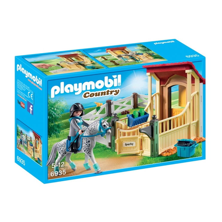Konstruktor Playmobil Country Horse Stable With Appaloosa 6935