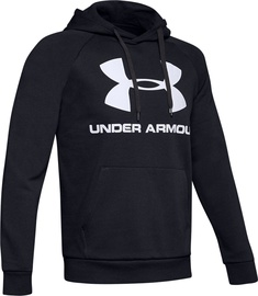Under Armour Rival Fleece Logo Hoodie 1345628-001 Black L