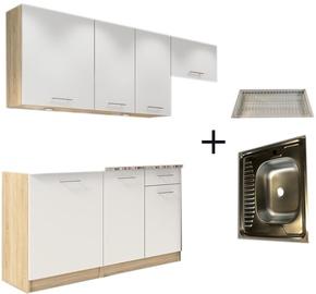 Кухонный гарнитур Tuckano Complete R, белый, 2 м