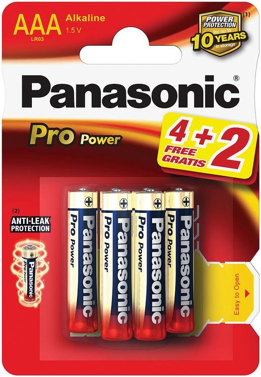 Panasonic LR03PPG Pro Power 4+2 x AAA Batteries