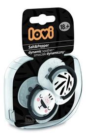 Lovi Dynamic Soother Salt&Pepper 18m+ 2pcs
