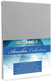 Voodilina DecoKing Amelia Silver, 160x200 cm, kummiga