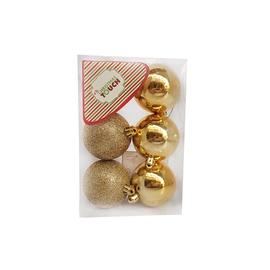 Jõulupuu ehe N3/6006AB-G Gold, 60 mm, 6 tk