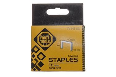 Klambrid, Forte Tools, 53/12 mm, 1000 tk