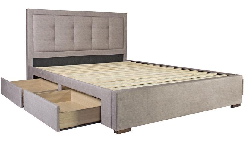 Home4you Duke New Bed w/ Mattress Olympia Top 160x200cm Beige
