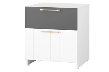 Ночной столик Szynaka Meble Picolo 08 White/Grey
