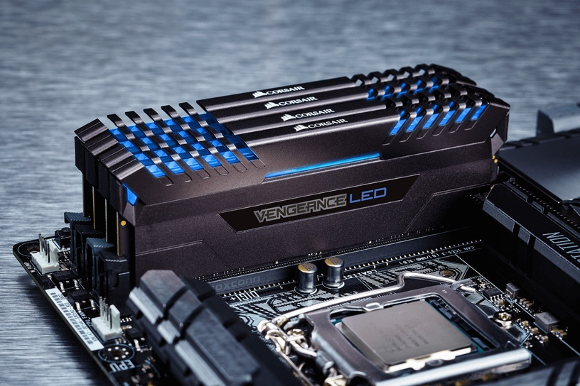 Corsair Vengeance LED Blue 32GB 3000MHz CL16 DDR4 KIT OF 4 CMU32GX4M4C3000C16B