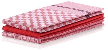DecoKing Louie Kitchen Towel Set 50x70 Red 3pcs