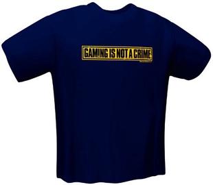 GamersWear Not A Crime T-Shirt Navy M