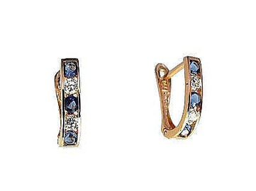 Diamond Sky 14K Red Gold Earrings Confetti XI Solid Gold 585