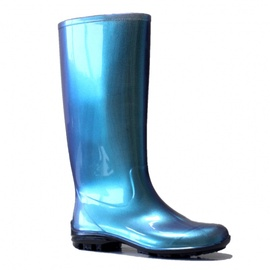SN Womens Long Rubber Boots 100P 38 Blue