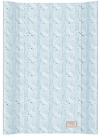 Ceba Baby Changing Mat Pastel Collection Cable Stitch Blue