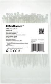 Qoltec Zippers Nylon UV 2.5x100mm 100pcs. White