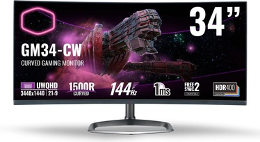 Монитор Cooler Master GM34-CW, 34″, 1 ms