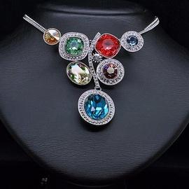 Diamond Sky Necklace Color Season With Swarovski Crystals
