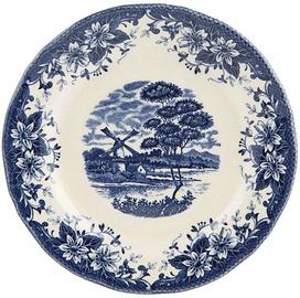 Claytan Windmill Dessert Plate 20.7cm Blue