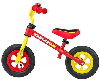Lastejalgratas Milly Mally Dragon Air Balance Bike Yellow Red 2800