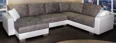 Угловой диван Platan Gustaw 01 White/Grey, 315 x 135 x 87 см