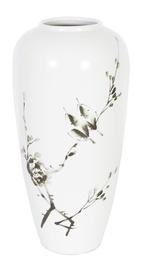 Home4you Yoko Ceramic Vase Birds H35cm White