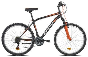 """Jalgratas Esperia 8250, must/oranž, 17.5"""", 26"""""""
