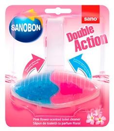 Sano Sanobon Double Action Pink Flower Toilet Rim Block 55g