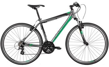 "Jalgratas Kross Evado 1.0 M 28"" Graphite Green Matte 17"