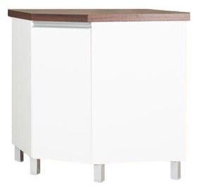 Нижний кухонный шкаф Bodzio Sandi Corner 76x86x52cm Polished White