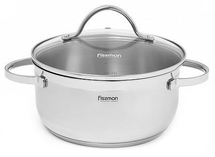 Fissman Luminosa Casserole With Glass Lid D18cm 2.1l